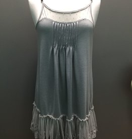 Dress Lace Trim Slip Dress
