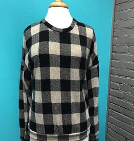 Long Sleeve Black Checkered LS