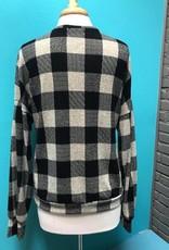 Long Sleeve Black Checkered LS