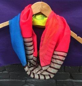 Scarf Colorblock/Stripe Infinity Scarf