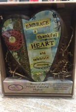 Decor Thankful Wood Carved Heart