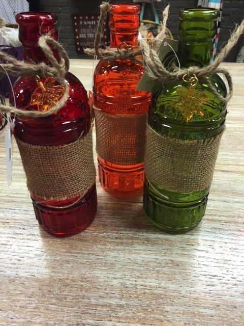Decor Glass Bottle Decor