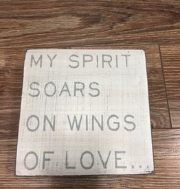 Decor Believe Spirit Wall Art 6""