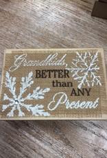 Decor Christmas Burlap Block