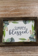 Decor Simply Blessed Sign