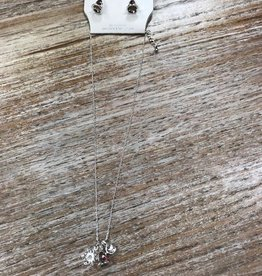 Jewelry Snowflake Bell Necklace & Earrings