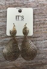 Jewelry Gold Animal Dangle Earrings