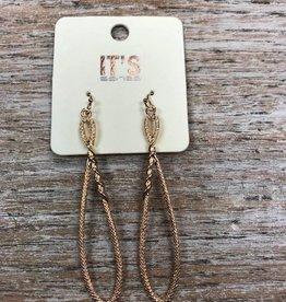 Jewelry Gold Rope Like Hoop Earrings