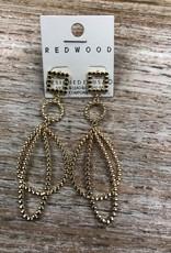 Jewelry Gold Bead Like Hoop Earrings