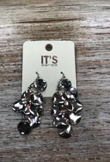 Jewelry Silver Disc Chandelier Earrings