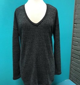 Sweater Charcoal Back Twist Sweater