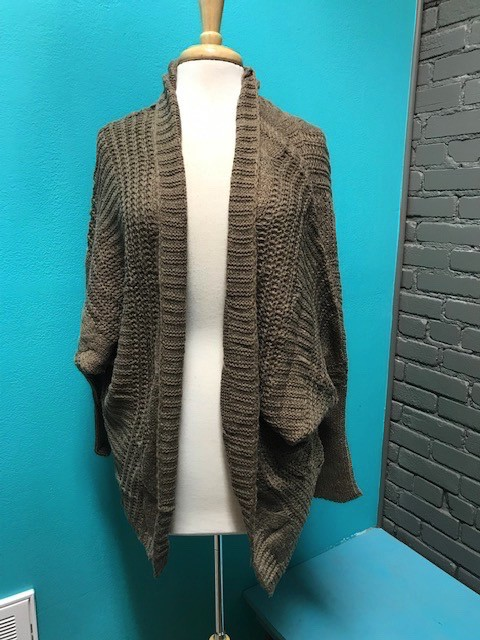 Cardigan Mocha Cable Knit Cardigan