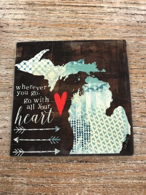 Decor Go With All Your Heart Coaster