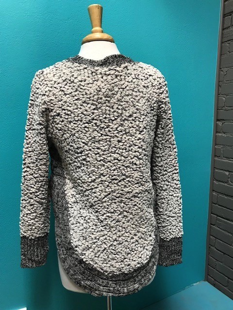 Sweater Gray/Ivory Marble Sweater