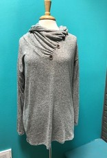 Long Sleeve Turtle Neck Button LS