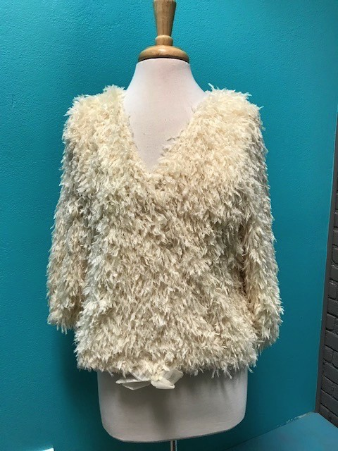 Top Ivory Feather 3/4 Top