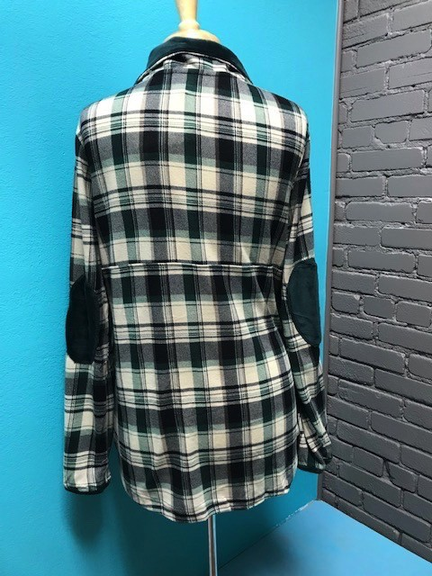 Pullover Green Plaid Pullover