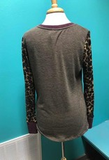 Top Leopard LS Colorblock top