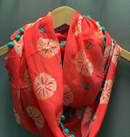 Scarf Peach Sea Shell Infinity Scarf