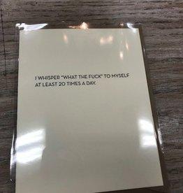 Card Whisper WTF Card