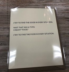 Card Food Typo Card