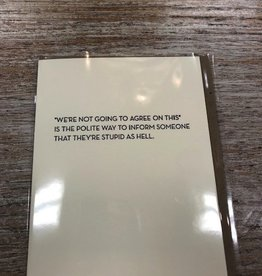 Card Not Going To Agree Card