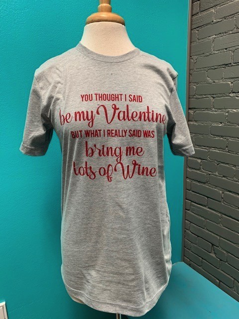 Shirt Valentine Wine Tee