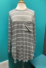 Top Noah Jersey Gray Stripe Top
