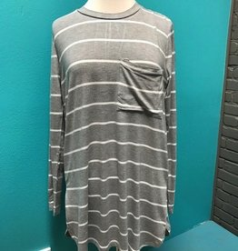 Top Noah Jersey Gray Stripe Top