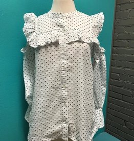 Top Clarissa Cold Shoulder Button Top