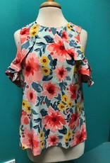 Top Kimball Cold Shoulder Floral Top