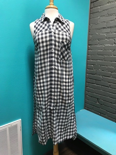 Duster Finley Gray Check Duster