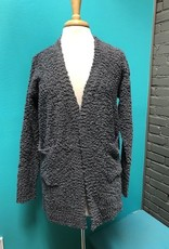 Cardigan Charcoal Knit Cardi w/ Pockets