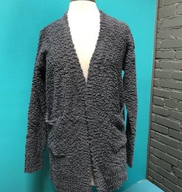 Cardigan Charcoal Knit Cardi w/ Pockets