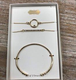 Jewelry Gold Pave Bracelet Set