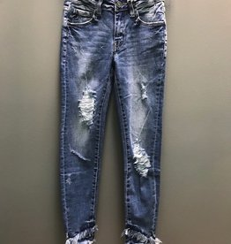 Jean Denim Ankle Distressed Jeans