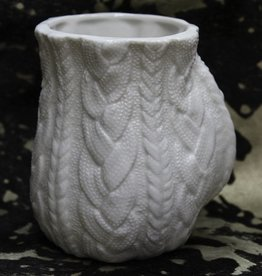 Kitchen Ceramic Cable Knit Handwarmer Mug