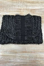 Bag Grosgrain Fringe Clutch