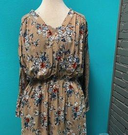 Dress Taupe Floral Dress