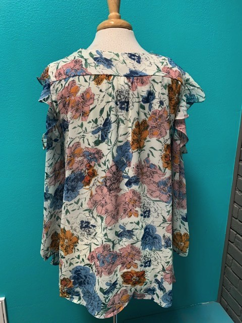 Blouse Floral Off The Shoulder Top