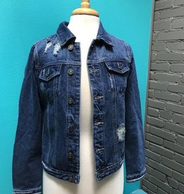 Jacket Distressed Denim Jacket