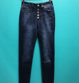 Jean High Rise Button Skinny Jeans