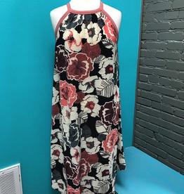 Dress Floral Print Flare Dress