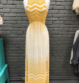 Dress Mustard Stripe Maxi Dress