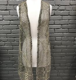 Vest Sheer Crochet Vest