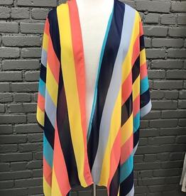 Kimono Mustard/Navy Stripe Kimono
