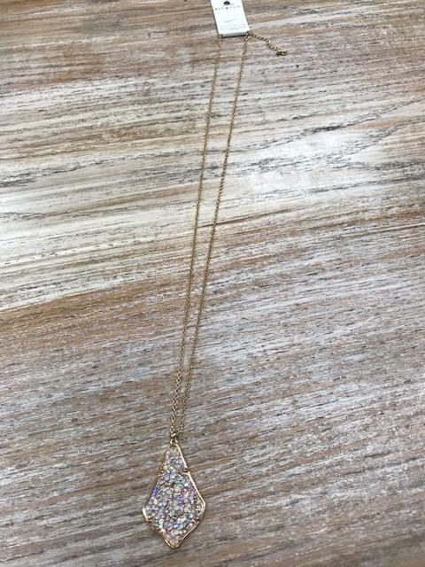 Jewelry Long Rhinestone Pendant Necklace