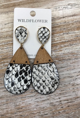 Jewelry Wood/Snakeskin Earrings
