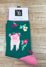Socks Women's Crew Socks, PigPower