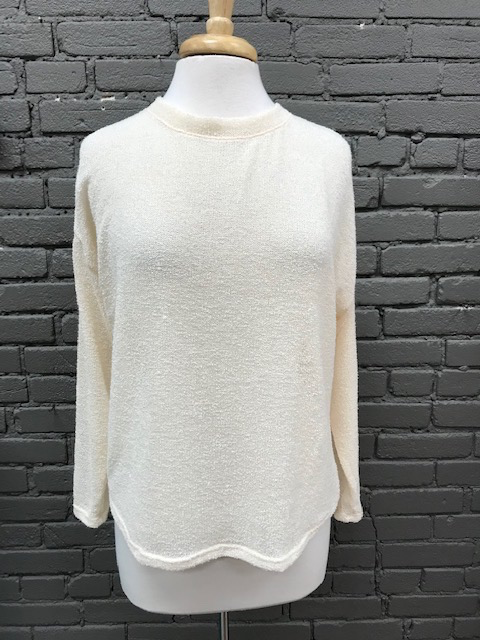 Long Sleeve Knit LS w/ Print Tie